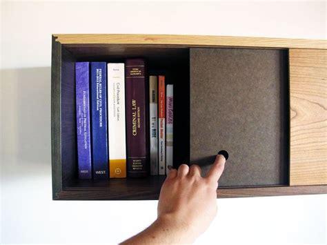 sliding door dvd cool floating bookshelf diy dvd player and wii holder