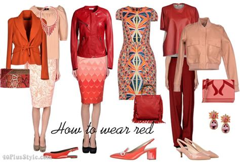 what goes with red how to wear red over 40 40plusstyle com