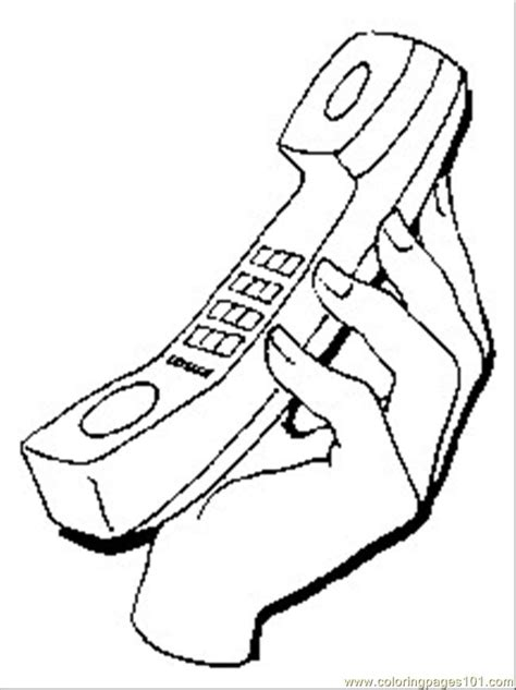 coloring pages telephone1 technology gt telecom free