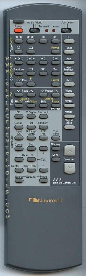 buy nakamichi av  av red audiovideo receiver remote