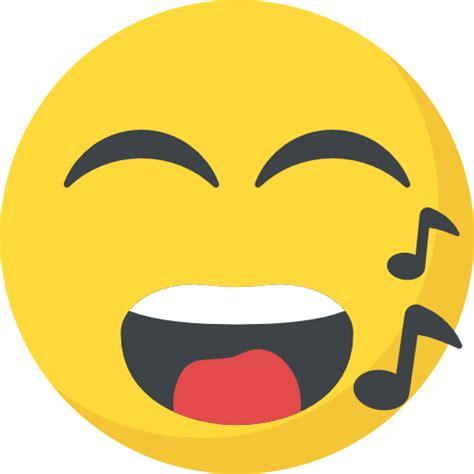 singing emoij png singing free smileys icons