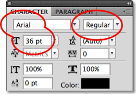Meme Font Style - photoshop type the character panel