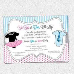 gender reveal invitations template best template collection