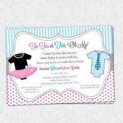Baby Revealing Invitation Free Template » Home Design 2017