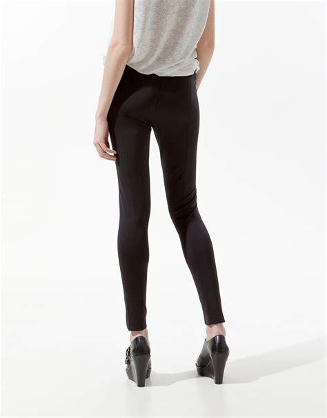 Fenuza Leging Zara Size M zara with zip in black lyst