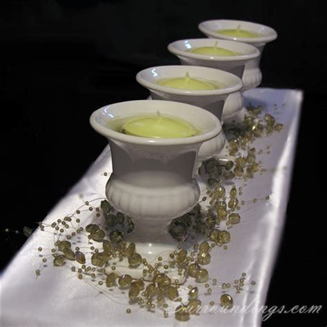 floating candle centerpiece kits mini urn and bead garland floating candle centerpiece kit