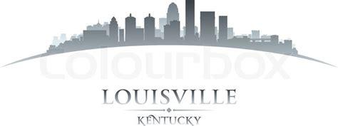 Louisville Ky Skyline Outline by Louisville Kentucky City Skyline Silhouette Vector Illustration Stock Vector Colourbox
