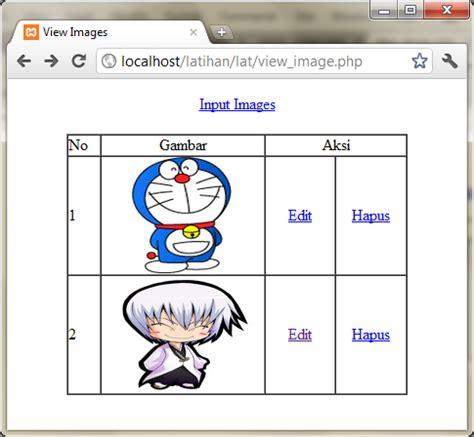 membuat database upload foto membuat upload edit dan hapus foto gambar di php aina