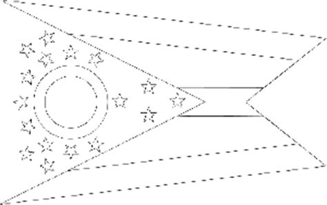 ohio state flag coloring page