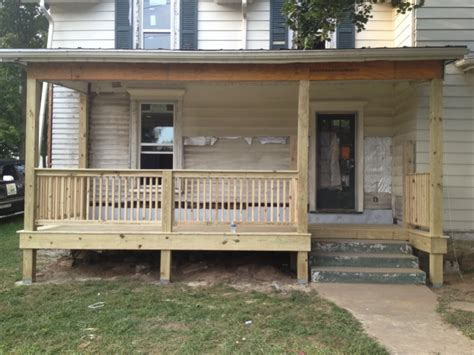 small front porch decks fencing contractor talk
