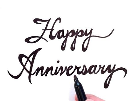 Wedding Anniversary Drawings by How To Draw Happy Anniversary