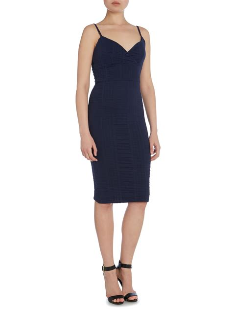 Bodycon Dress W7821uzi D Blue Navy lipsy cami top bodycon dress in blue lyst