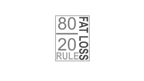 weight loss 80 20 rule it s your turn now