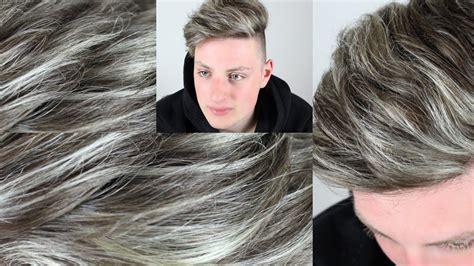 graue haare selber faerbengraue straehnengrey hair