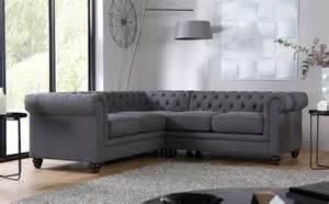 hton slate fabric chesterfield corner sofa only 163 1 099