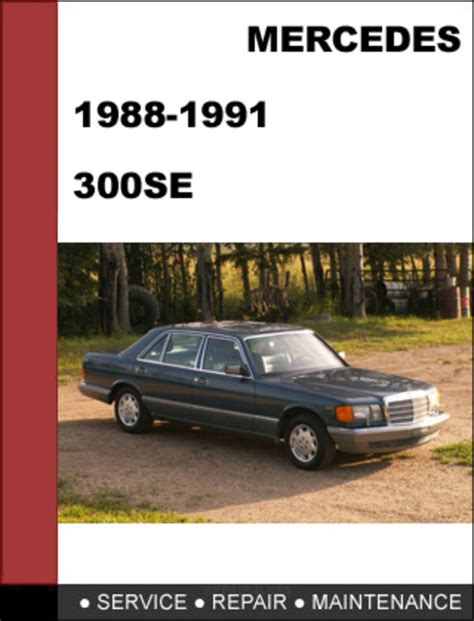 service manuals schematics 1992 mercedes benz 300se transmission control mercedes benz 300se w126 1988 1991 factory workshop service manual