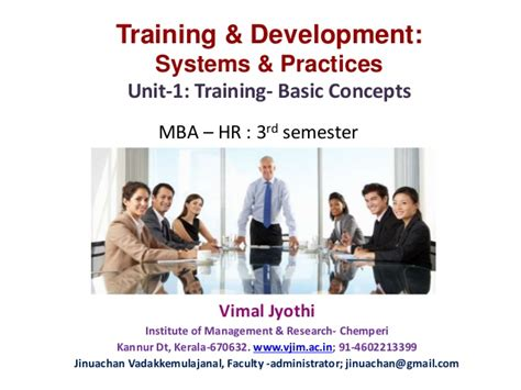 Mba Hr Related Computer Courses by Human Resource And Development