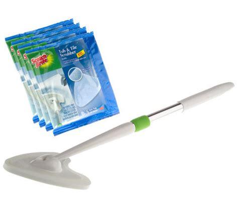scotch brite shower and bath scrubber scotch brite tub and tile scrubber 21 starter kit qvc