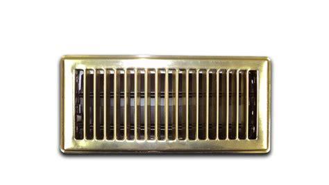 modern homes 4 inch x 10 inch brass floor register 6 pack