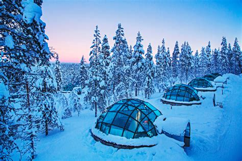 iceland northern lights igloo hotel the kakslauttanen igloo hotel in finland holidayguru ie