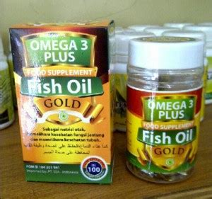 Herbal Nutrisi Otak Omega 3 Plus Fish Gold Food Supplement fish gold omega 3 plus almadiniherbal