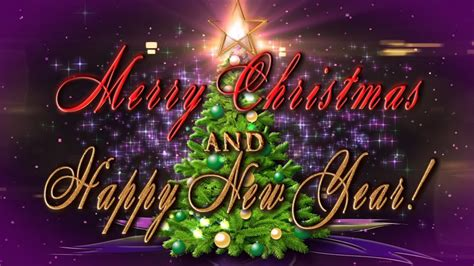 merry christmas  happy  year  animation greeting card youtube