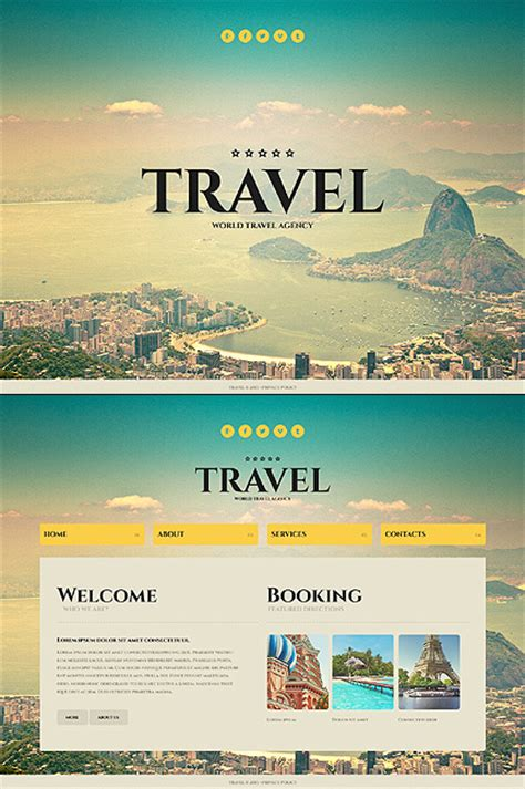 Travel Website Template Template 43703 Travel Agency Website Template