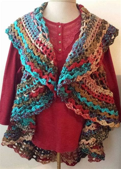 free crochet bohemian vest pattern pdf crochet pattern for bohemian circle vest pattern only