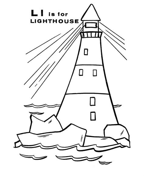 lighthouse coloring pages free 28343 bestofcoloring com