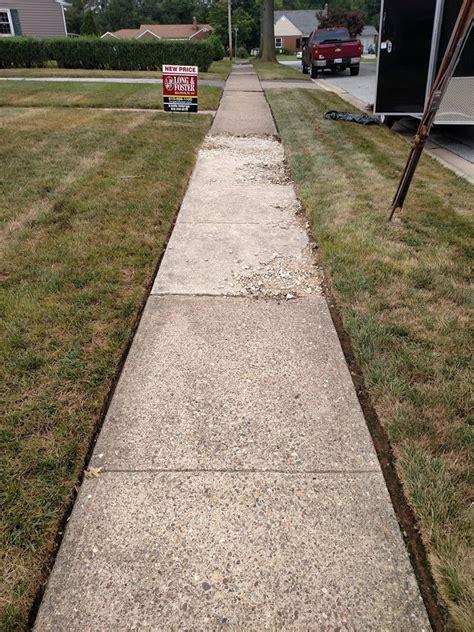 sidewalk refinishing wilmington concrete resurfacing