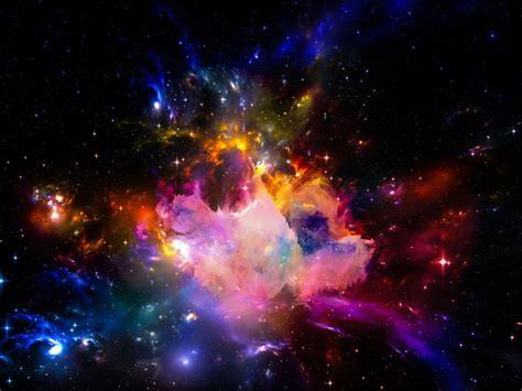 colorful universe beautiful universe colorful starry shine light