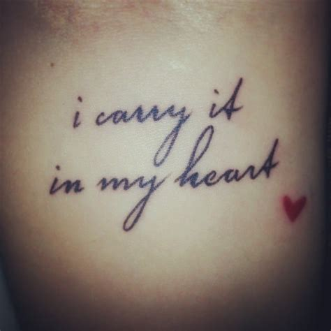 i carry your heart tattoo the i got with my she got quot i carry your