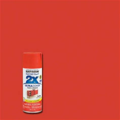 rust oleum painter s touch 2x 12 oz satin orange general purpose spray paint 263149 the