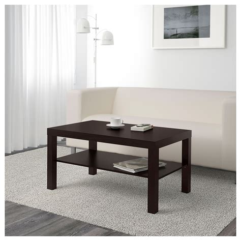 Lack Coffee Table by Lack Coffee Table Black Brown 90x55 Cm