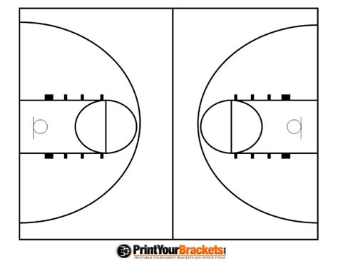 half court basketball template best photos of basketball court diagram blank blank