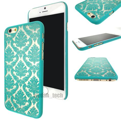 Hardcase Clear Cover Iphone 6 6s rubberized damask vintage clear cover for iphone