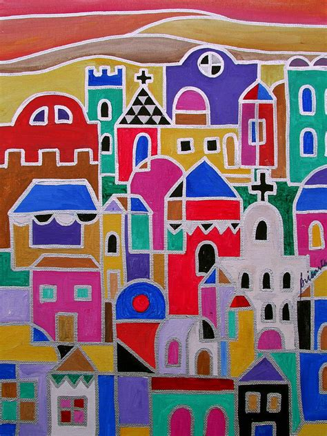 Colorfu Houses Painting colorful town of guanajuato mexico painting by pristine
