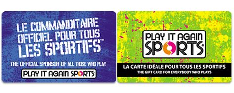 Play It Again Sports Gift Card - accessories secure payment systems