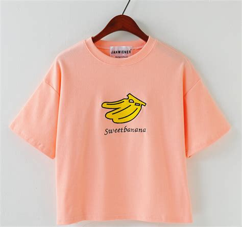 Banana Shirt by Sweet Banana Sleeved T Shirt Four Colors 183 Sweetbox
