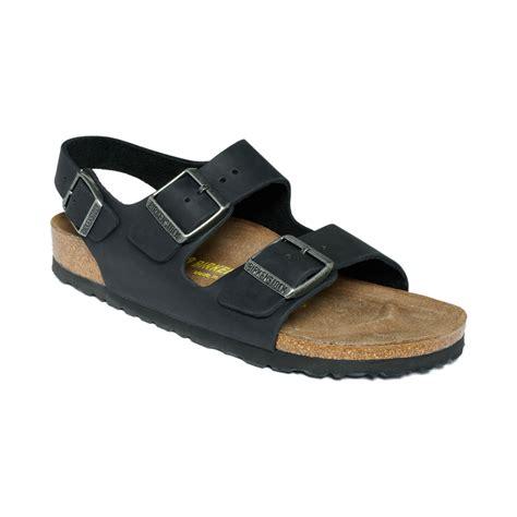 birkenstock sandals black birkenstock sandals in black black leather