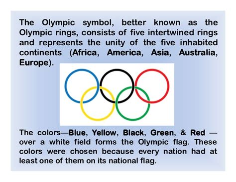 what are the five colors of the olympic rings the olympic symbol better known