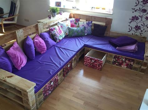 Bedroom Bench With Arms diy pallet sectional sofa ideas 99 pallets