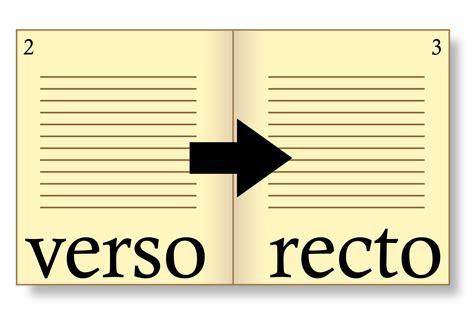 recto and verso