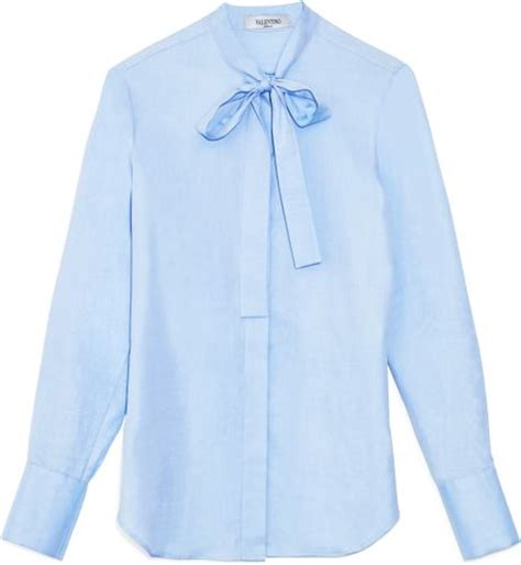 Gloria Jumbo Blouse Light Blue s light blue silk blouse collar blouses