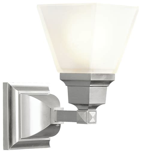 Mission Bath Light Brushed Nickel Bathroom Wall Lights Mission Bathroom Lighting