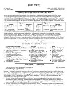 business development manager resume sles 59 best images about best sales resume templates sles