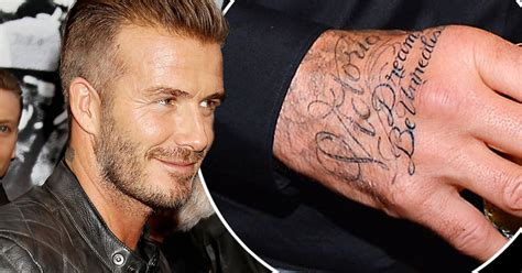 david beckham tattoos jay z lyrics on his hand after being