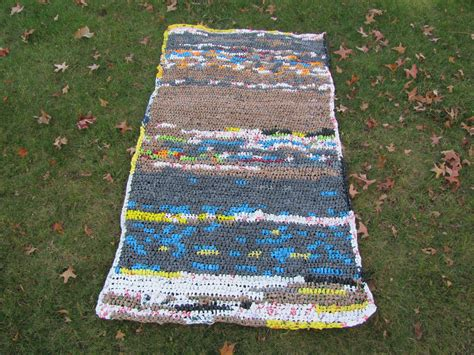 Mats From Plastic Bags by Hooking For Crochet Plastic Mat Hi Brown