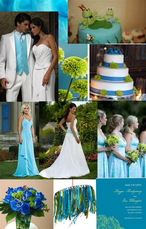 weddingzilla blue green turquoise wedding inspiration board