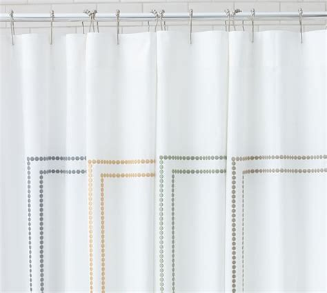 monogrammed shower curtain pottery barn pearl embroidered shower curtain pottery barn